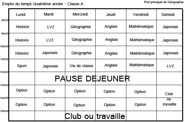 Système scolaire Quatri10
