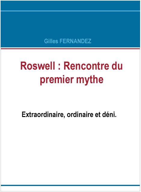 Roswell, rencontre du premier mythe Livre110