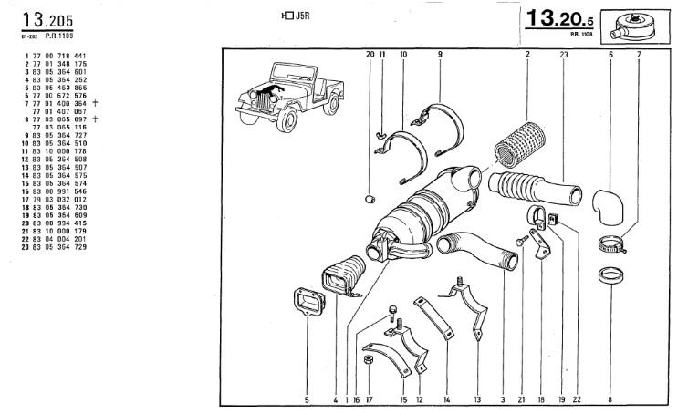 Filtre à air et support moteur.... Boite_12