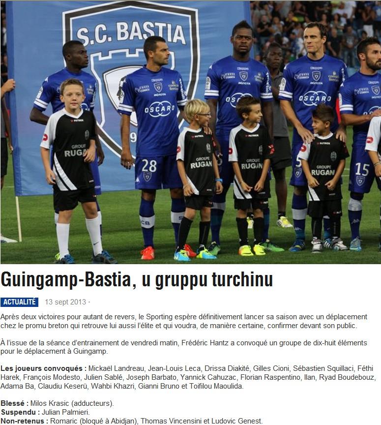 J5 / Jeu des pronos - Prono Guingamp-Bastia S76
