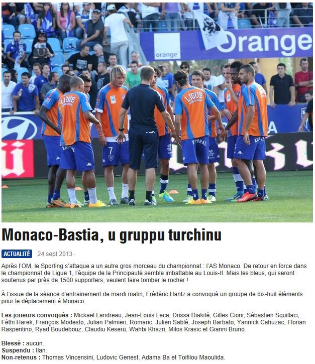 J7 / Jeu des pronos - Prono Monaco-Bastia S90