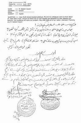 Fatwa contre Zakir Naik et apostasie en islam Fatwa_10