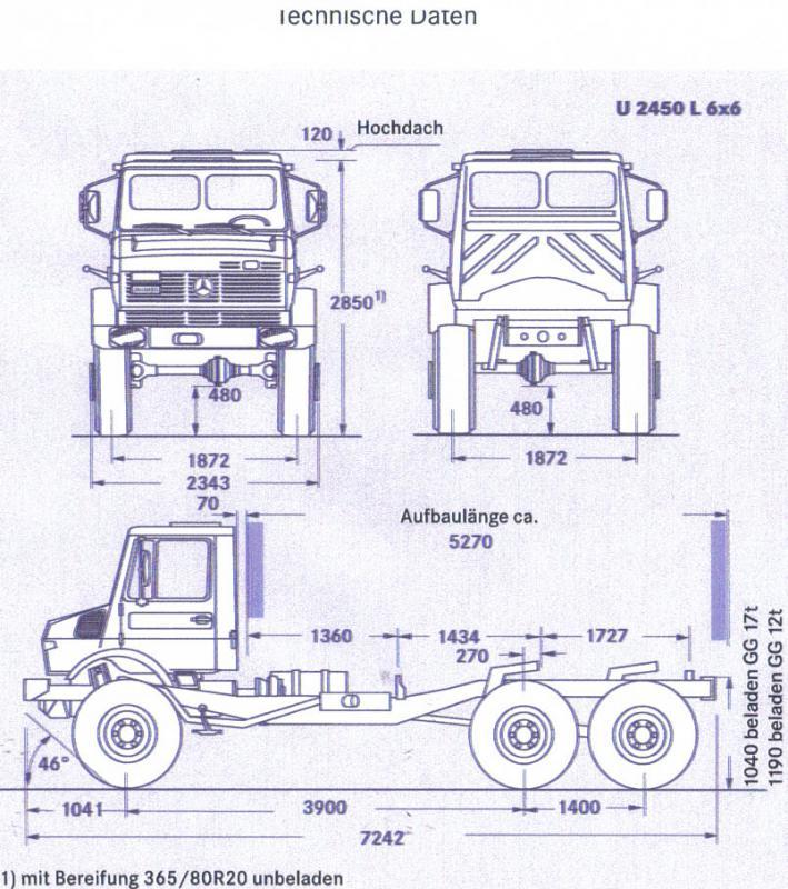 Unimog U5000 6x6  sur base axial 6x610