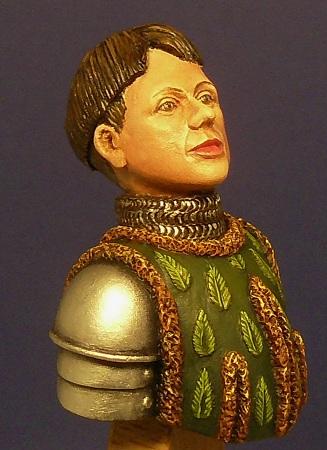 JEANNE D'ARC - buste 1/12 Nemrod pour Le Briquet - sculpture Jean-Claude COLRAT 00810