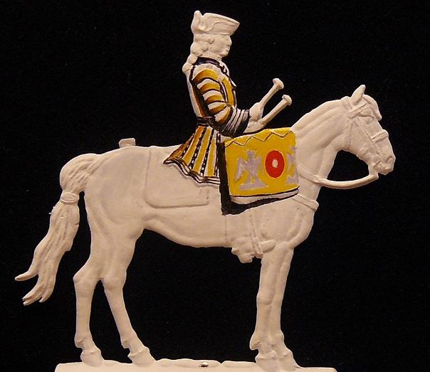 timbalier des Gardes du Corps de Stanislas Leczinski 1761 - plat 30mm 01010