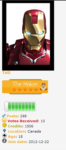 center avatar, rank title and rank image phpbb3 Center10