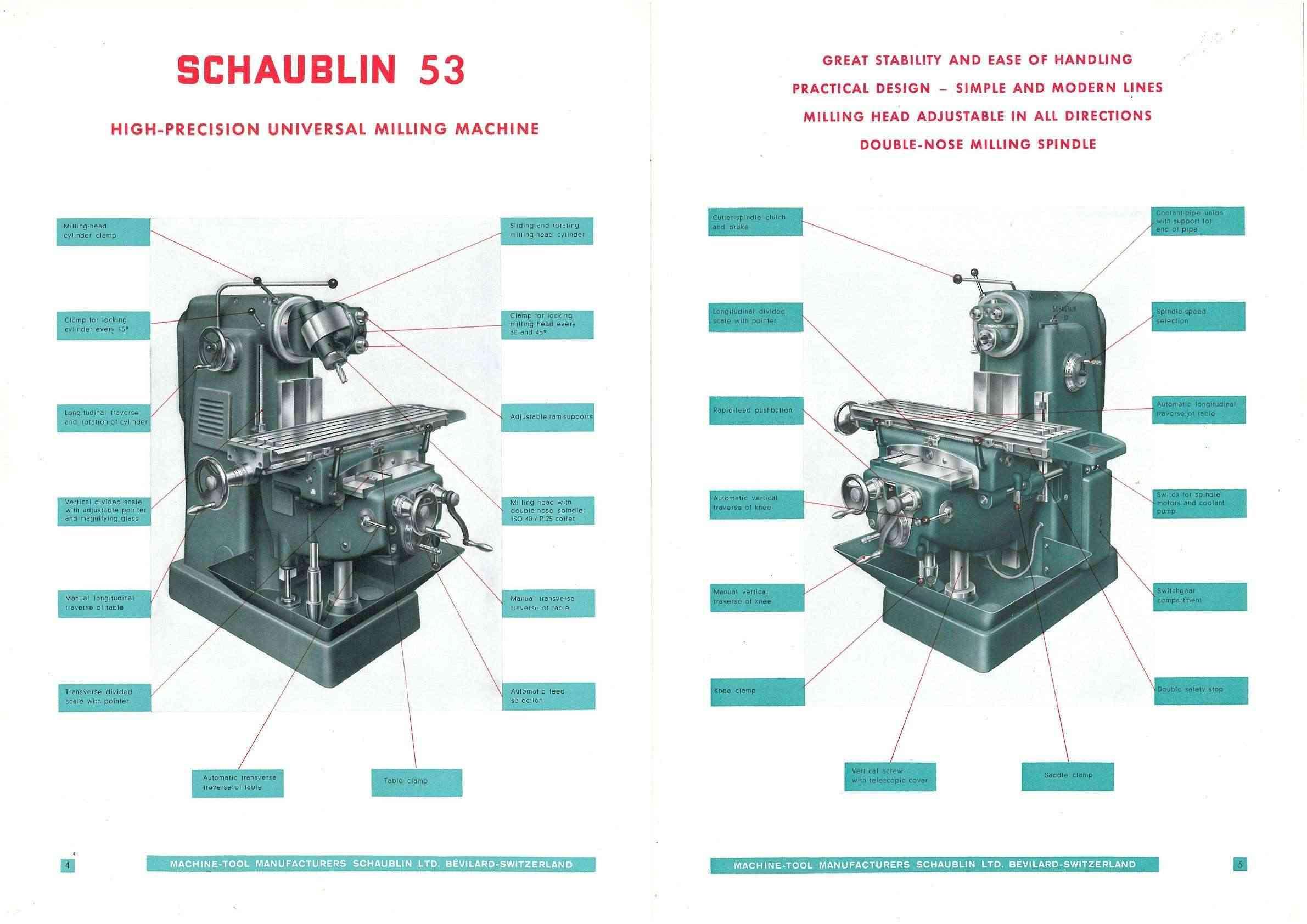 Schaublin 53 & 53N Uw1116