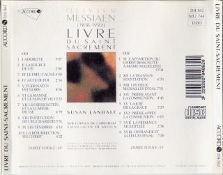 Messiaen : Oeuvres pour orgue Back12