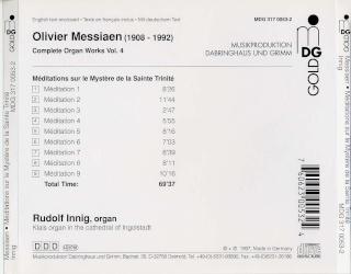 Messiaen : Oeuvres pour orgue Back13