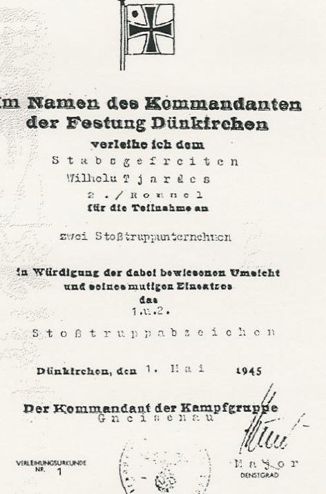 Vos décorations militaires, politiques, civiles allemandes de la ww2 - Page 8 Dunksh10