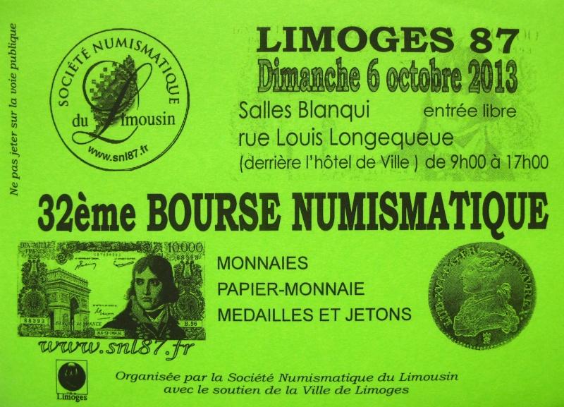 Bourse Numismatique à Limoges, 6 octobre 2013 Affich10