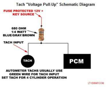 How do I mod an early tach for a V8 signal? Tach_p10