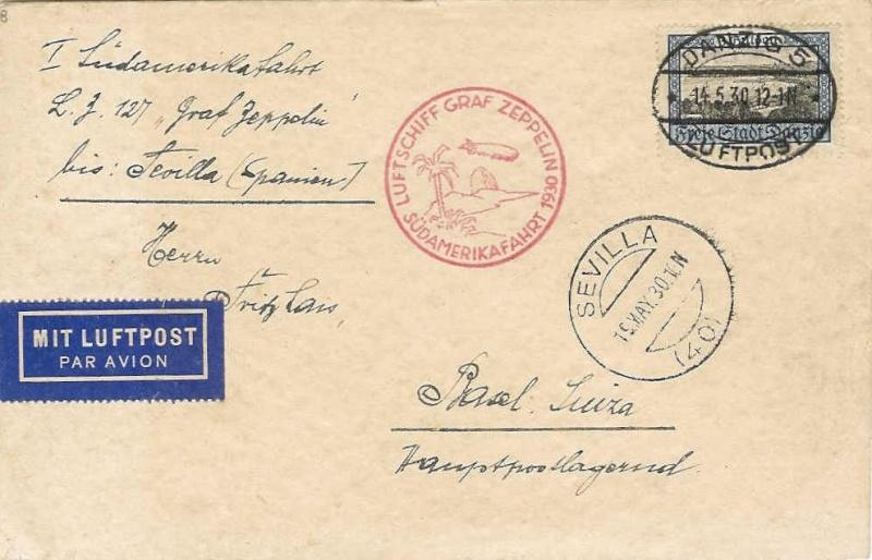 Südamerikafahrt 1930, Post nach Sevilla 57_i_d10