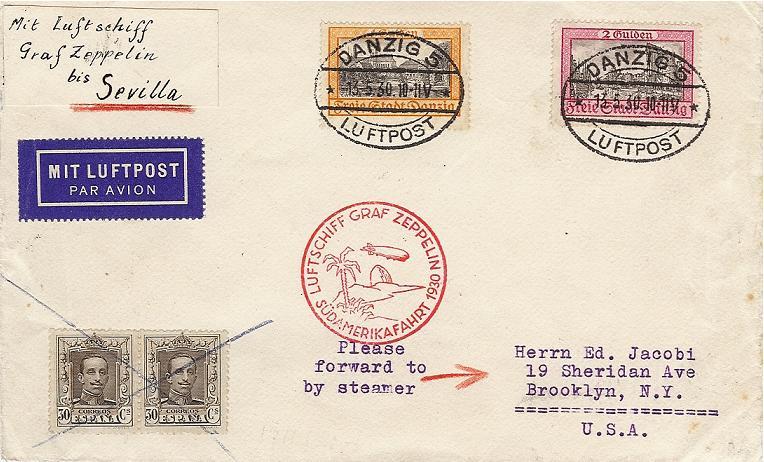 Südamerikafahrt 1930, Post nach Sevilla 57_i_d11