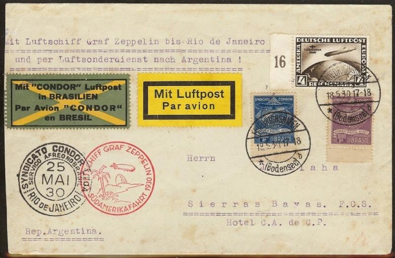 Condor-Flugpostmarken auf Belegen der Südamerikafahrt 1930 - Seite 2 57_mm_10