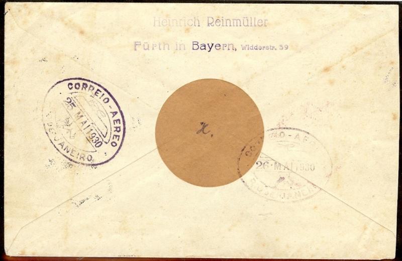 Condor-Flugpostmarken auf Belegen der Südamerikafahrt 1930 - Seite 2 57_mm_11