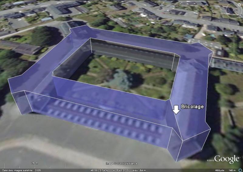 Comment faire un polygone extrudé comme le Pentagone dans GE ? [Problème Google Earth en attente] Stanne10