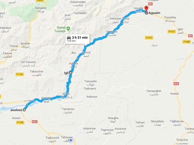 [Carburant, Routes, Police] Route entre Aoulouz (Nle 10) et Agouin (Nle 9) Carte13