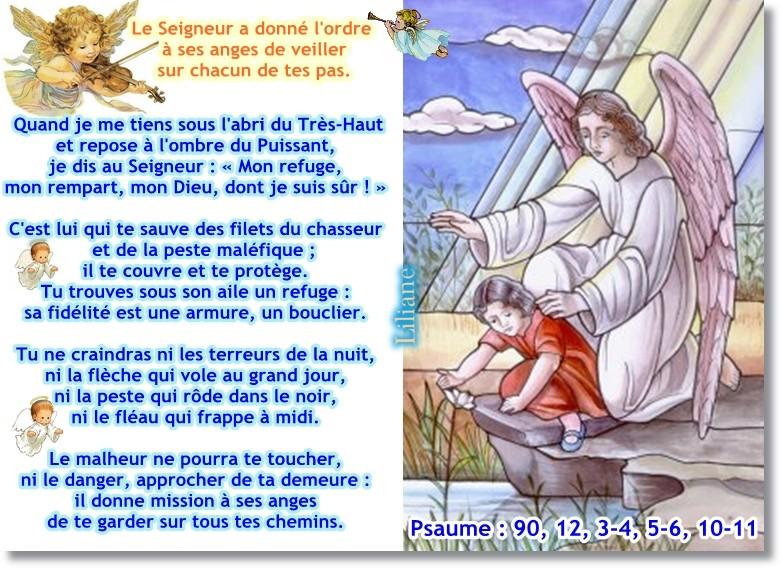N oublions pas - N'oublions pas nos chers anges-gardiens ! Psaume28