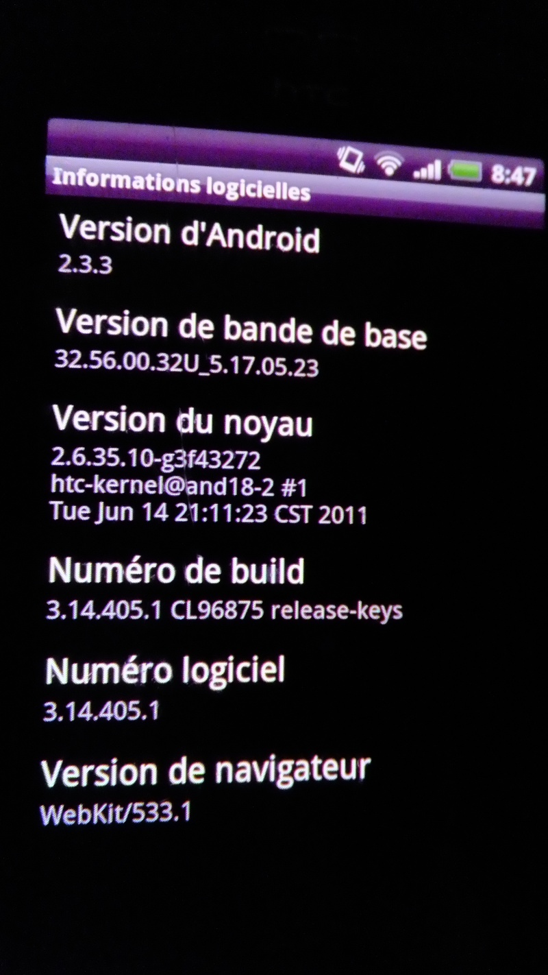 [RESOLU] Rootage impossible sur HTC DESIRE Dscf0710