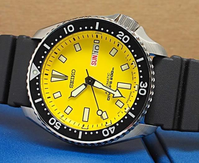 Quelle montre avec cadran jaune ? Skxa3510