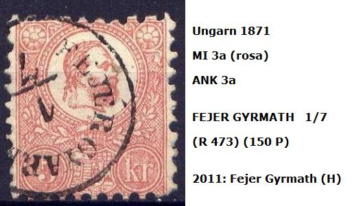 ungarn - m`s UNGARN 1871 3a_fej10