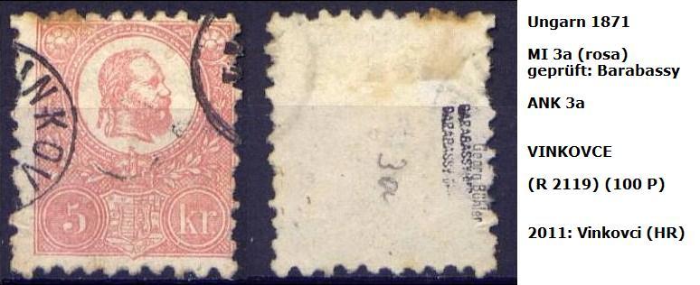 ungarn - m`s UNGARN 1871 3a_p_v10