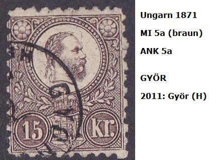 ungarn - m`s UNGARN 1871 5a_ws10
