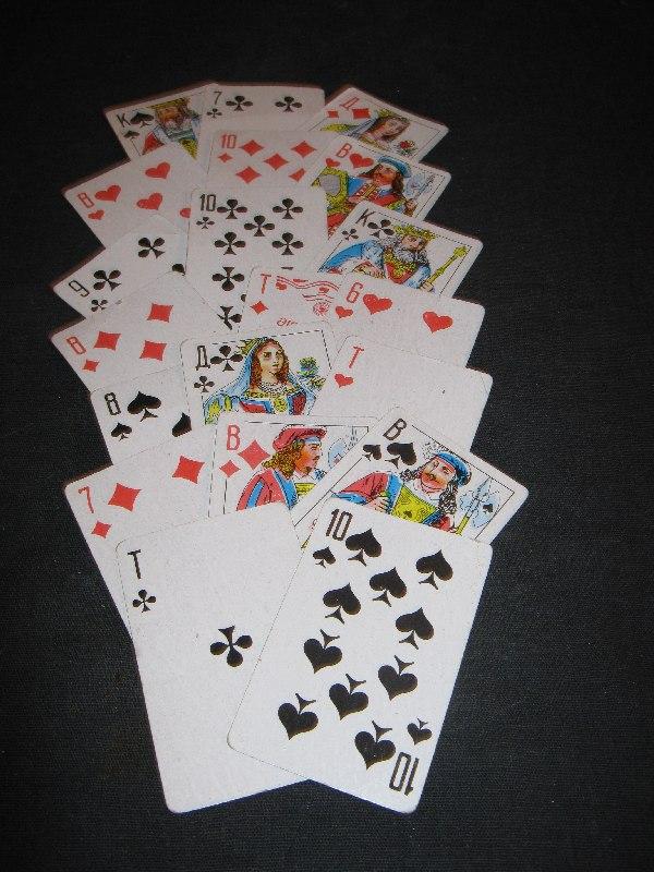 расклады и значения игральных карт. 009zr10