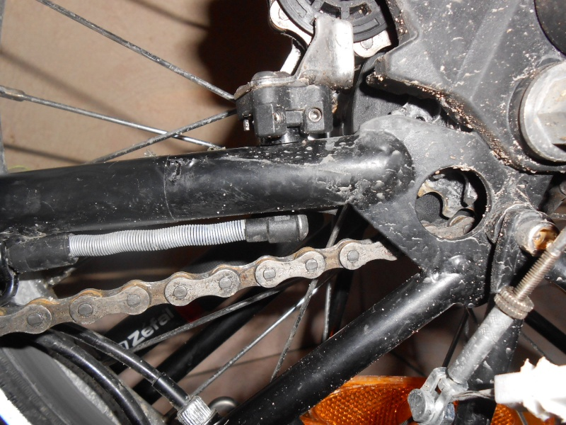 Commande de dérailleur pour 3 pignons sur une roue libre [Brompton 9 vitesses] •  00213