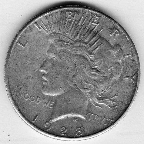 1928 Peace Dollar Coinfr11