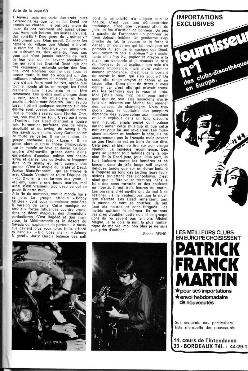 Grateful Dead - Presse Francophone B37-2515