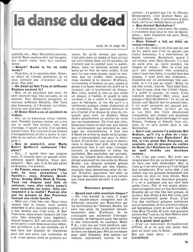 Grateful Dead - Presse Francophone R55-2510