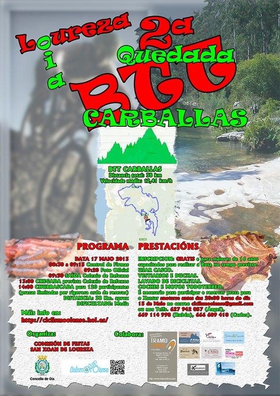 2ª QUEDADA BTT. DO CARBALLAS, LOUREZA - OIA, 17 MAYO 90169610