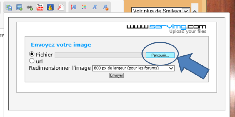 Comment insérer une image dans un message ? Insere11