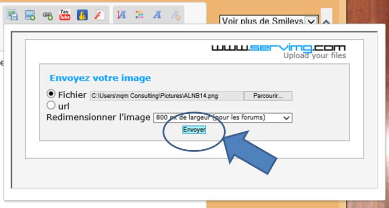 Comment insérer une image dans un message ? Insere14