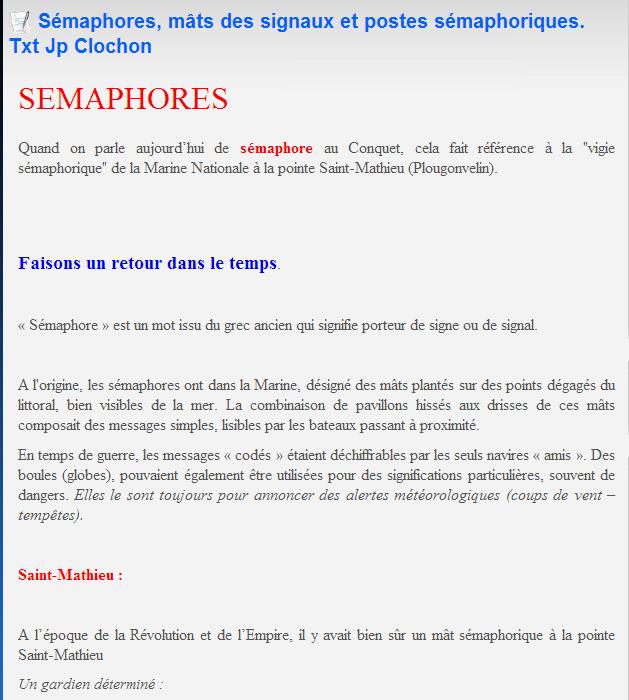 [ Les sémaphores - divers ] LES SEMAPHORES DANS L'HISTOIRE - Page 2 Sem11