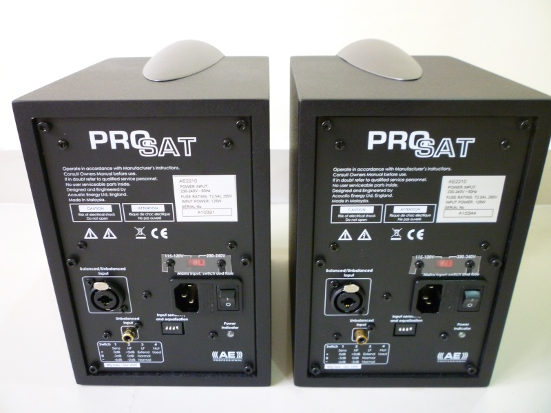 Acoustic Energy ProSat Active Near Field Studio Monitor Speaker (New) P1130612