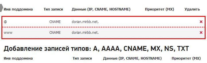 Управление зоной DNS   Snap0073