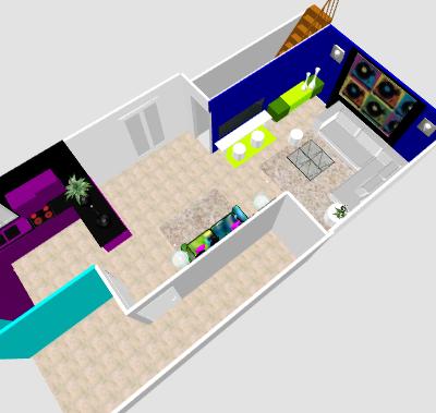 conseil pour reorganiser un espace de 40m² ( choix table de repas ! on vote svp p3) - Page 5 Mikatu11
