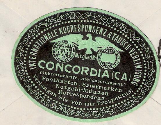 Südamerikafahrt 1930, Post nach Sevilla Concor10