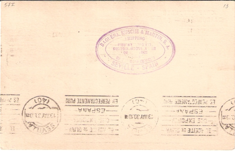 nach - Südamerikafahrt 1930, Post nach Sevilla - Seite 2 Scanne25