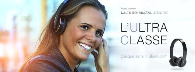 Laure MANAUDOU hausse le son, avec PLAY2RUN Lm110