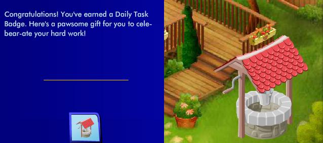 Wishing Well: Level 2 Bronze Daily Tasks Reward Ss83311