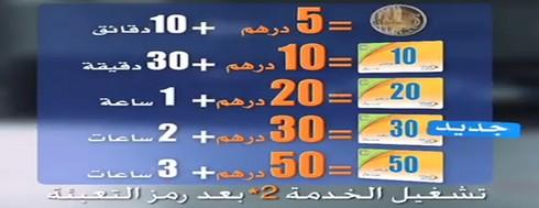 Sa3a 7ora: Promotion Maroc Télécom:Sa3a Jawal (*12pour l'activation) Sa3a10