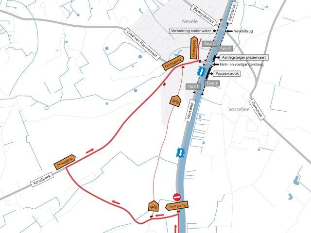 Schipdonkkanaal Deinze - Eeklo (Fietssnelweg F422) - Knokke (of Afleidingskanaal van de Leie) Nevele10