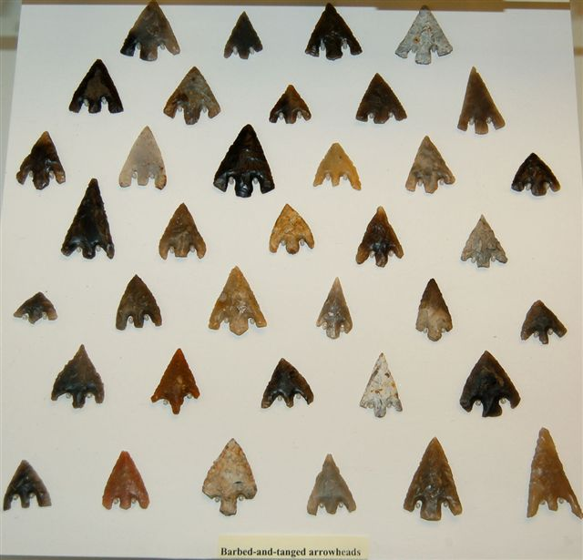 Lithics on display in museums Arrowh10