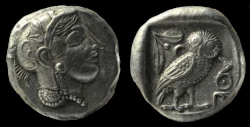Tétradrachme d'Athènes à la chouette Tetra-10