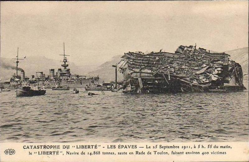 Le 25 septembre 1911 le cuirassé Liberté explosait à Toulon Libert11