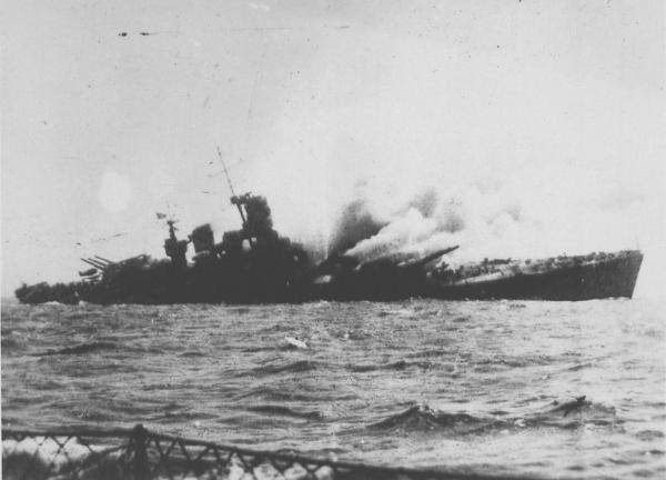 8 septembre 1943,la flotte italienne se rend aux Alliés Roma_110